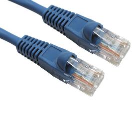0.5m Snagless Cat5e LSZH Patch Cable - Blue