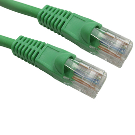 0.5m Snagless Cat5e LSZH Patch Cable - Green