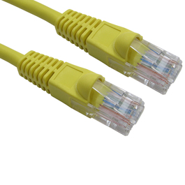 1m Snagless Cat5e LSZH Patch Cable - Yellow