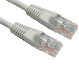 3m Snagless Cat5e LSZH Patch Cable - Grey