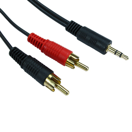 2m 3.5mm Stereo to Two RCA Cable