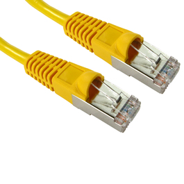 0.5m Cat5e Snagless Full Copper Shielded FTP RJ45 Ethernet Cable (Yellow)