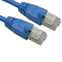 1m Cat6 Snagless Full Copper Shielded FTP RJ45 Ethernet Cable (Blue)
