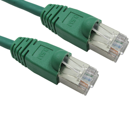 1m Cat6 Snagless Full Copper Shielded FTP RJ45 Ethernet Cable (Green)
