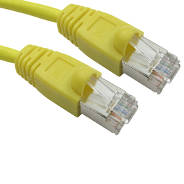 1m Cat6 Snagless Full Copper Shielded FTP RJ45 Ethernet Cable (Yellow)