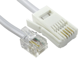 3m Two Wire RJ11 (M) to BT (M) Cable