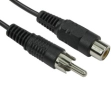 Single RCA Phono Extension Cables