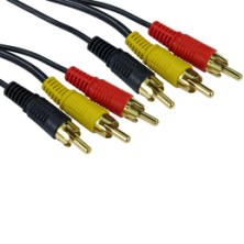 Triple RCA Phono Cables